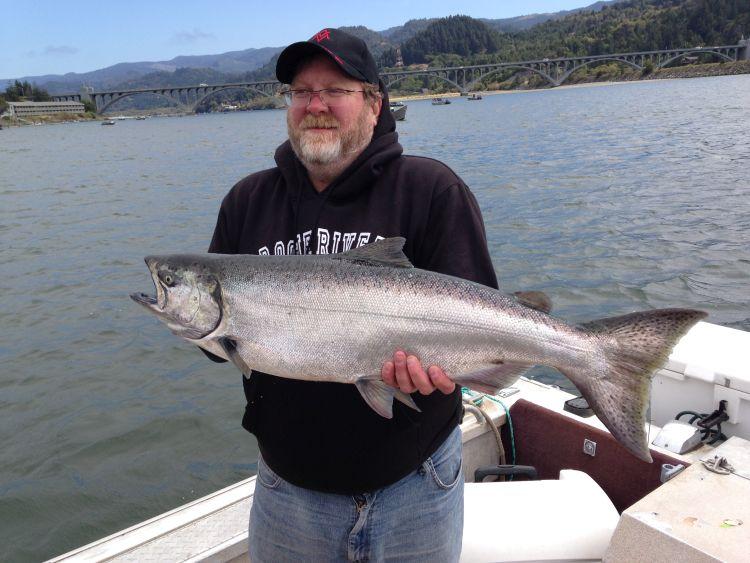 Rogue River Salmon Fishing at Gold Beach Oregon